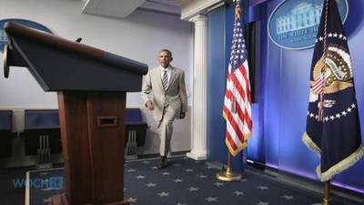 News video: President Obama Wears Tan Suit To Press Conference, Internet Reacts